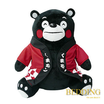 BEDDING 【坐姿熊本熊-紅】 10CM  可愛填充吊飾