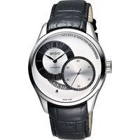 MIDO Belluna II Gent 時分偏心機械腕錶 ^#45 銀x黑 ^#47 4