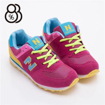 【88%】撞色N字慢跑鞋 運動鞋 休閒鞋(4色)