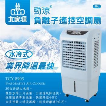 《福利品》【大家源】30L勁涼負離子遙控空調扇/水冷扇-藍色TCY-8905