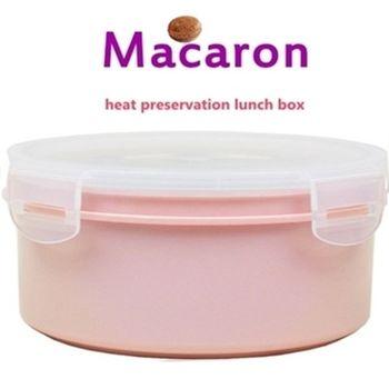 【卡滋馬卡龍】隔熱餐盒600ccx2入/便當盒/保鮮盒(粉紅x2)