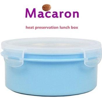 【卡滋馬卡龍】隔熱餐盒600ccx2入/便當盒/保鮮盒(水藍x2)