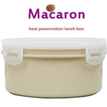 【卡滋馬卡龍 】隔熱餐盒600ccx2入/便當盒/保鮮盒(焦糖x2)