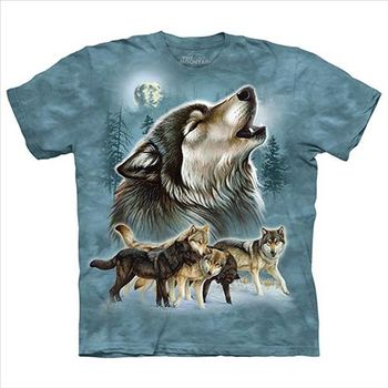 【摩達客】(預購)美國進口The Mountain 昔日狼友 純棉環保短袖T恤