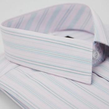 【金安德森】粉色緹花短袖襯衫