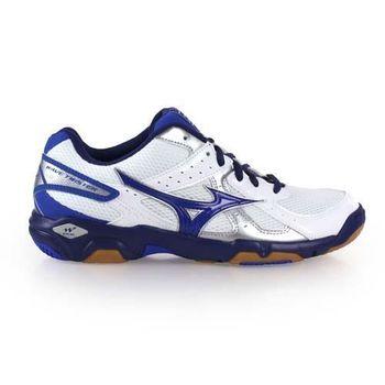 【MIZUNO】WAVE TWISTER 4 男女排球鞋- 羽球鞋 美津濃 白藍銀