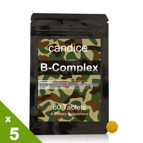 【Candice】康迪斯活力B群錠狀食品(5包共300顆)