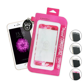 Dapad iPhone 6 / 6s 9H滿版繽紛迷彩玻璃保護貼