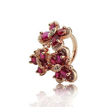 紅寶蝴蝶 戒指