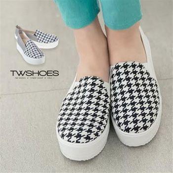 【TW Shoes】異材質拼接厚底鬆糕鞋【K130I2296】
