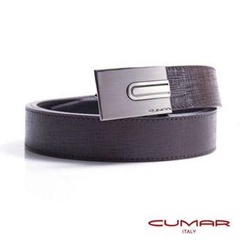 CUMAR 義大利牛皮造型紳士皮帶 0596-C22-02