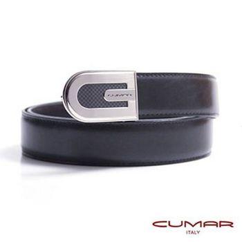 CUMAR 義大利牛皮造型紳士皮帶 0596-D68-01