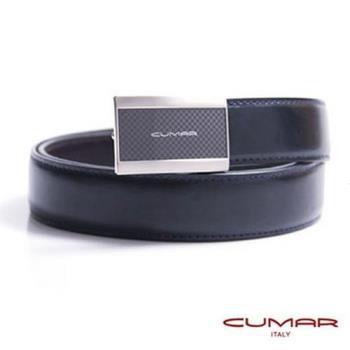 CUMAR 義大利牛皮造型紳士皮帶 0596-D70-05