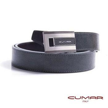 CUMAR 義大利牛皮造型紳士皮帶 0596-D75-06