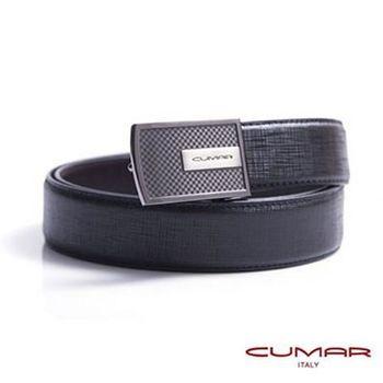 CUMAR 義大利牛皮造型紳士皮帶 0596-D77-01
