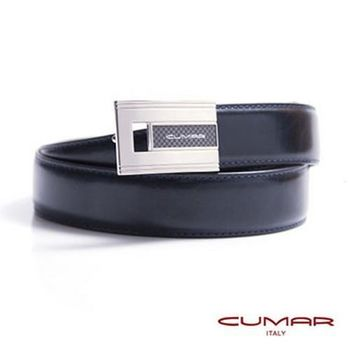 CUMAR 義大利牛皮造型紳士皮帶 0596-D76-05