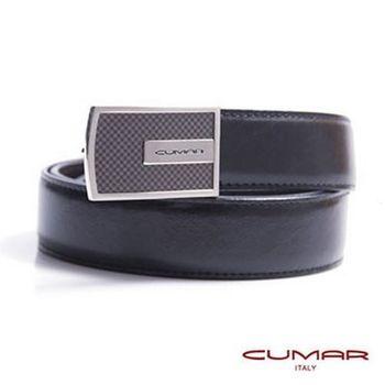 CUMAR 義大利牛皮造型紳士皮帶 0596-D78-01