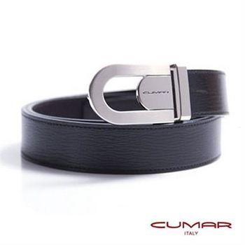 CUMAR 義大利牛皮鏤空造型紳士皮帶 0596-E41-01