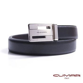 CUMAR 義大利牛皮鏤空造型紳士皮帶 0596-E43-01