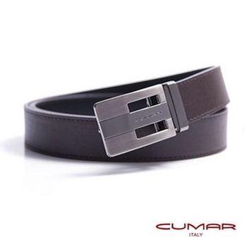 CUMAR 義大利牛皮鏤空造型紳士皮帶 0596-E46-02
