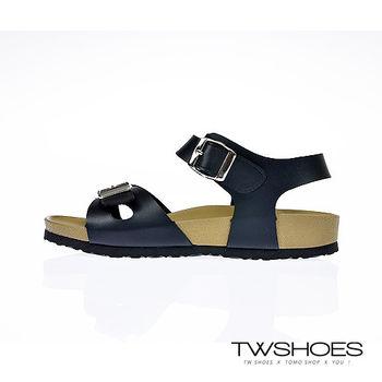 【TW Shoes】交叉方釦輕量級厚底涼鞋【K122A3367】