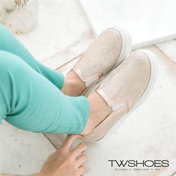 【TW Shoes】金蔥光澤韓系懶人鞋【K230I2430】