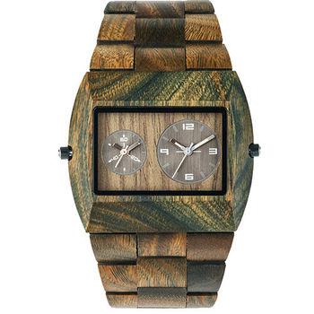 義大利WEWOOD木頭輕質錶 JUPITER RS ARMY-癒創木
