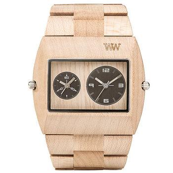 義大利WEWOOD木頭輕質錶 JUPITER RS BEIGE-楓木