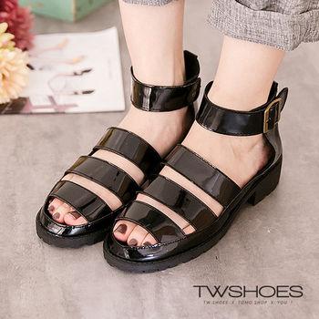 【TW Shoes】歐美率性魔鬼氈羅馬涼鞋【K122B3291】
