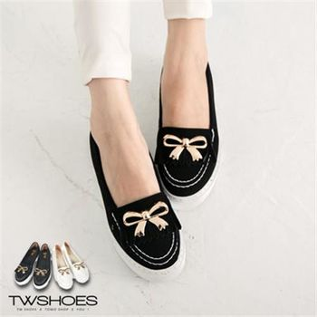 【TW Shoes】流蘇金屬蝴蝶結莫卡辛鞋【K120A2794】