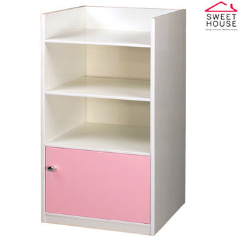 甜美家 塑鋼防潮戰士四層置物收納櫃/書櫃(馬卡龍4色 台灣製)