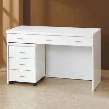 【時尚屋】[5U6]白色4尺書桌5U6-218-1643