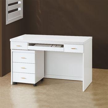 【時尚屋】[5U6]白色4尺電腦桌5U6-217-1644