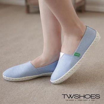 【TW Shoes】車線編織造型平底懶人鞋【K130A3360】