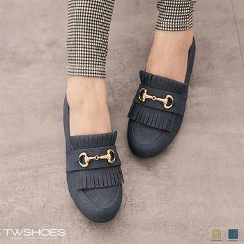 【TW Shoes】金飾流蘇麂皮平底休閒鞋【K120A3072】