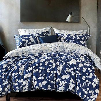 【Betrise】素波麗影-環保印染德國防螨抗菌精梳棉四件式兩用被床包組-雙人