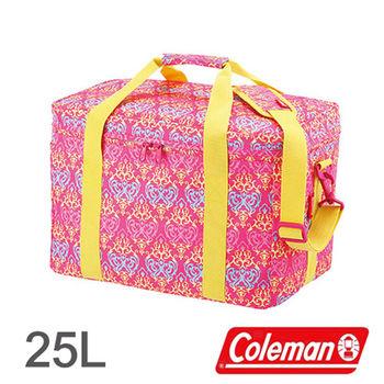 Coleman 25L 紅葉圖騰保冷袋 CM-22229 │行動冰箱│冰筒│冰桶│手提袋│露營│登山