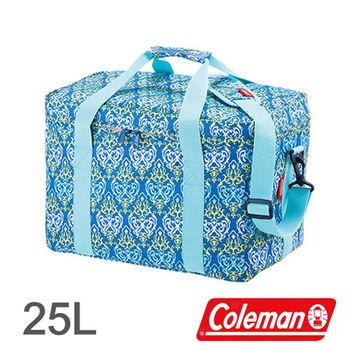 Coleman 25L 藍葉圖騰保冷袋 CM-22219 │行動冰箱│冰筒│冰桶│手提袋│露營│登山