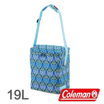 Coleman 19L 藍葉圖騰保冷袋 CM-22227 │行動冰箱│冰筒│冰桶│手提袋│露營│登山