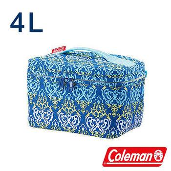 Coleman 4L藍葉圖騰保冷袋 CM-22228 露營│登山│行動冰箱│保冰袋│野餐│便當袋