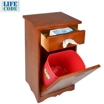 【LIFECODE】松木實木垃圾桶櫃/置物櫃/床頭櫃