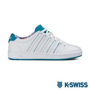 K-Swiss Court Pro II SP CMF休閒運動鞋-女-白/湖水綠/圖騰