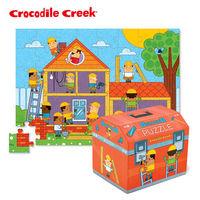 ~美國Crocodile Creek~趣味寶盒拼圖系列 ^#45 小小工程師