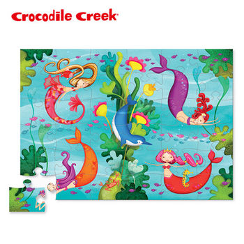 【美國Crocodile Creek】大型地板拼圖-美人魚世界
