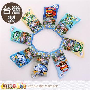 魔法Baby 男童襪 台灣製POLI正版短襪(隨機出貨 4雙一組)~k50194