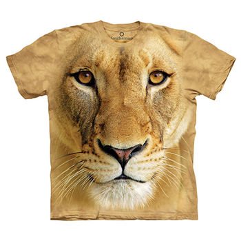 【摩達客】(預購)(大尺碼3XL)美國進口The Mountain Smithsonian系列母獅特寫 純棉環保短袖T恤