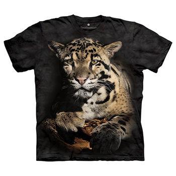【摩達客】(預購)美國進口The Mountain Smithsonian系列陰鬱花豹 純棉環保短袖T恤