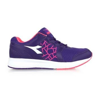 【DIADORA】女慢跑鞋-寬楦 路跑 紫粉白