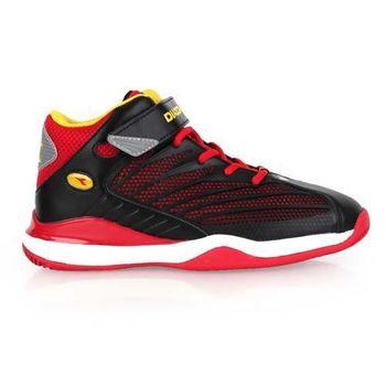 【DIADORA】男女大童籃球鞋-寬楦 高筒 黑紅