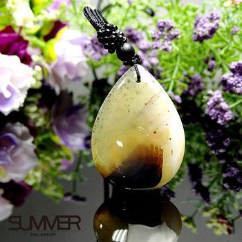 【SUMMER寶石】天然珍稀水墨玉髓項鍊(7B-28)